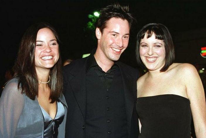 Keanu Reeves con su hermana