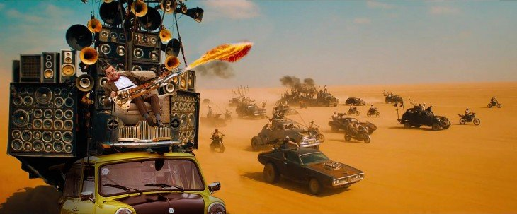 photosopean a mr bean Mad Max Road Fury