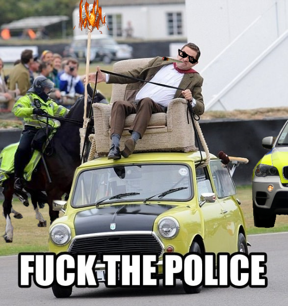 photosopean a mr bean fuck the police