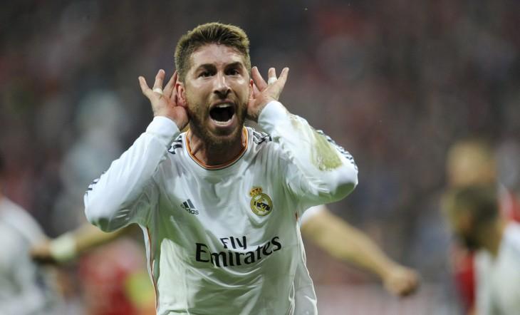 Sergio Ramos festeja gol