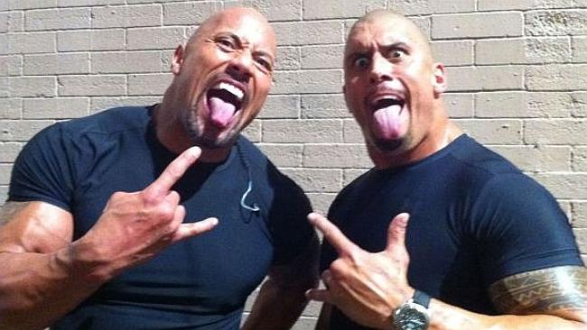Tanoai Reed y The Rock