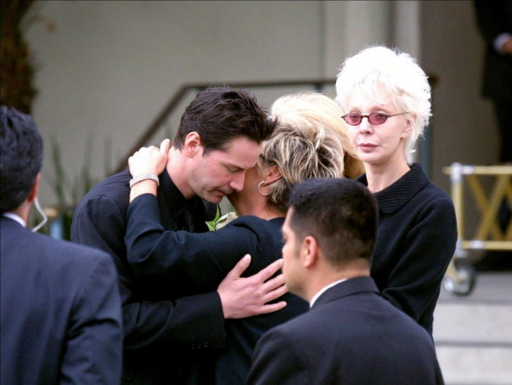 Keanu Reeves funeral de su novia