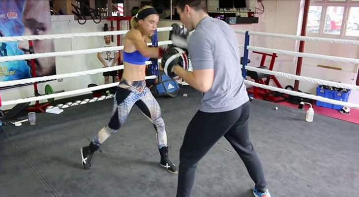 joanne salley entrenando box
