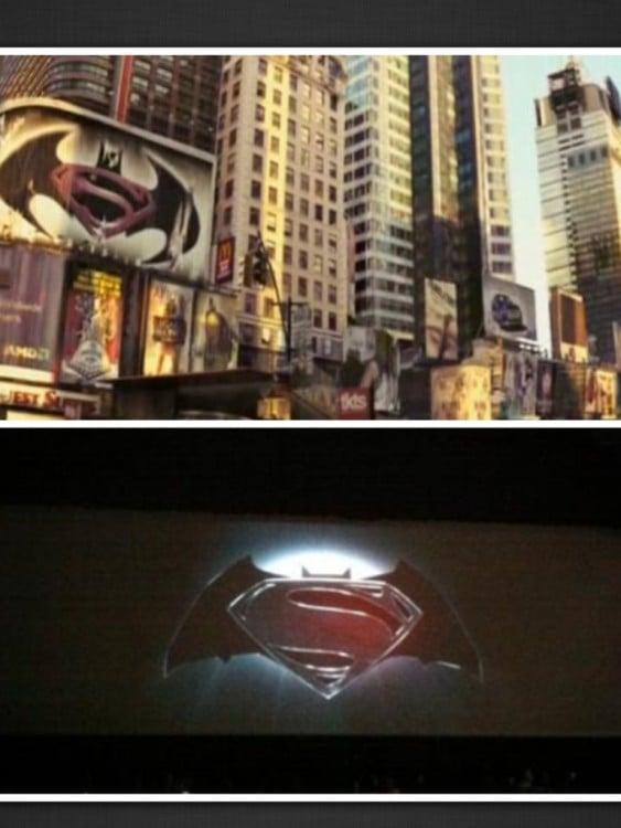 poster de batman vs superman en la pelicula soy leyenda