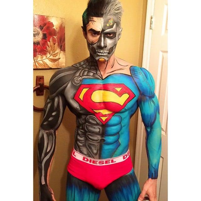 superman maquillaje