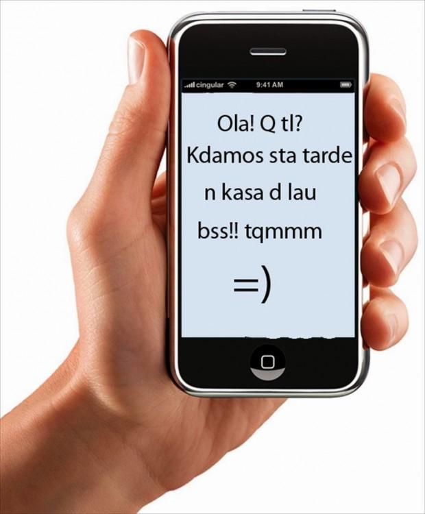 mensaje de texto con mala ortografia