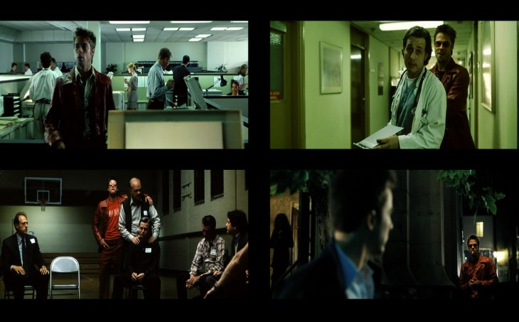 tyler durden cuadros subliminales en la pelicula fight club