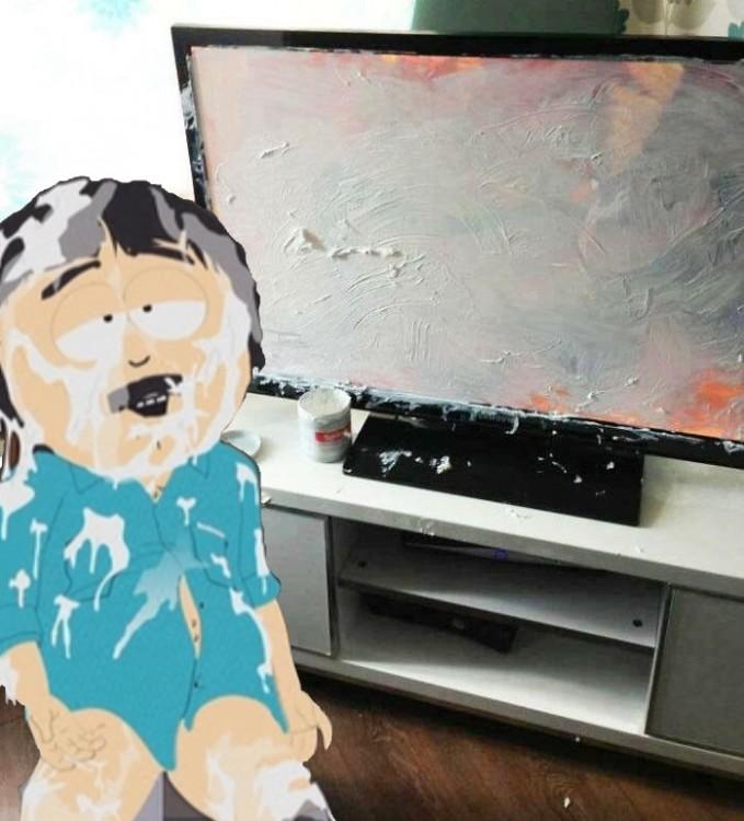 south park Niño mancha pantalla de televisor