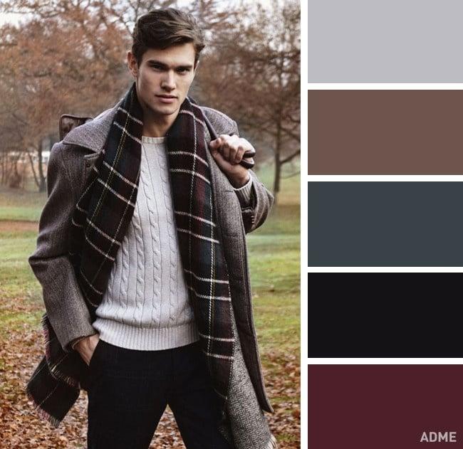 Colores fríos y tierra