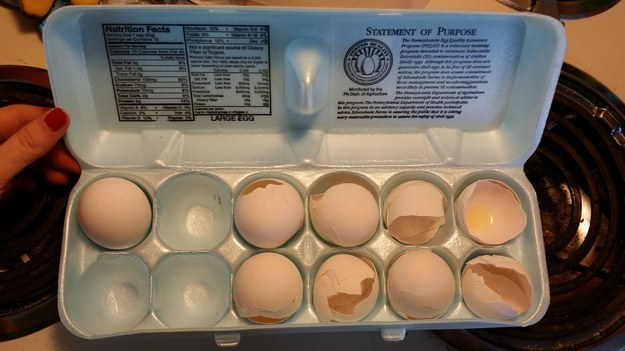 cáscara de huevos sin tirar