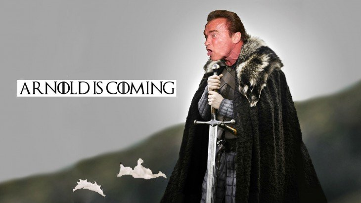 Game of Thrones, Photoshop de Schwarzenegger