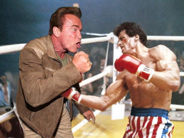 Rocky, Photoshop de Schwarzenegger