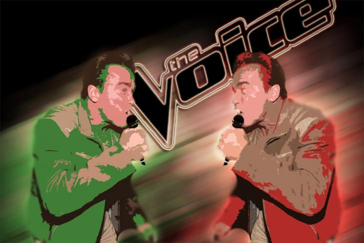 La voz, Photoshop de Schwarzenegger