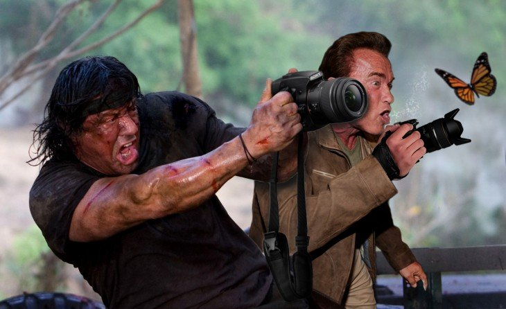rambo y Photoshop de Schwarzenegger