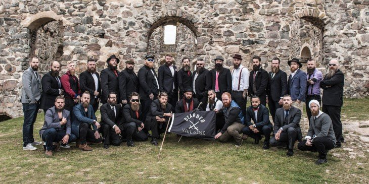 foto de miembros de The Bearded Villains