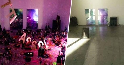 Arte Moderno en Italia es confundido con Basura ¡y los Conserjes lo Tiran a la Basura!