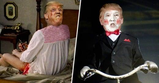 Batalla de Photoshop convierte a Donald Trump en Villano de Terror