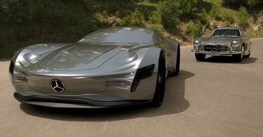 Conoce al Mercedes Benz Gran Turismo del futuro. Un auto sin ventanas!
