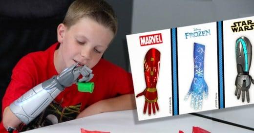 Crean prótesis para Niños en forma de brazos de Superhéroes