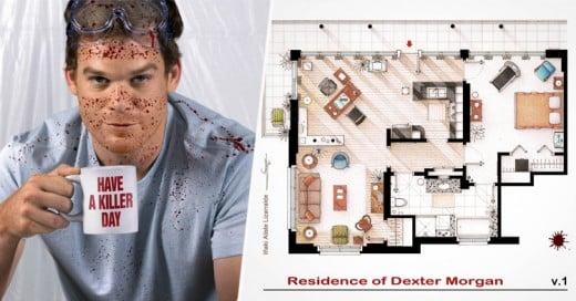 Diseñador gráfico dibuja los planos de los departamentos de las series MÁS famosas