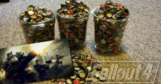 Este chico consiguió el 'Fallout 4' con ¡2 mil 240 tapas de refresco!
