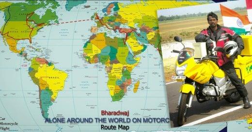 Este hombre le dio la vuelta al mundo en 18 meses ¡En Motocicleta!