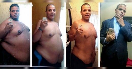 Este hombre logró bajar casi 190 kilos ¡en sólo dos años!