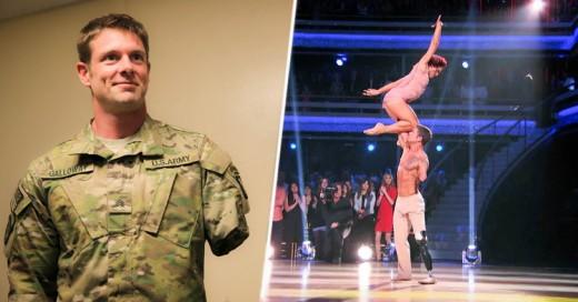Este soldado lucha en la pista de baile: ¡Sin pierna ni brazo!