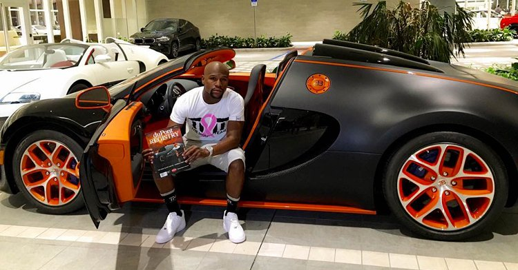 floyd mayweather jr compra nuevo bugatti veyron. Black Bedroom Furniture Sets. Home Design Ideas