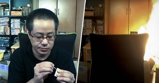 Japonés incendia su casa mientras transmitía EN VIVO por Internet!