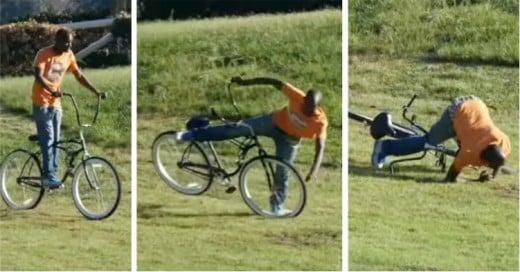 Con esta Broma les dan una lección a los que intentan Robarse la Bicicleta
