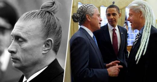 Photoshopean a los Líderes del Mundo con Peinados Hipsters