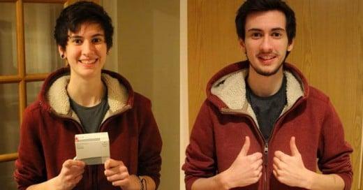 Joven Transgénero documenta su transformación con una selfie diaria por 3 años