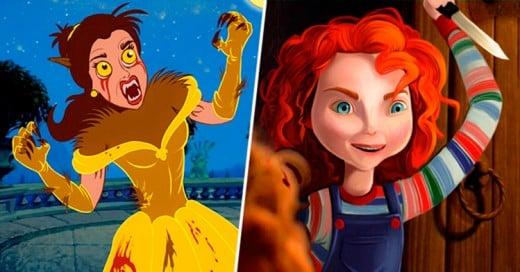 Así se verían las Princesas Disney si fueran estrellas del Cine de Terror
