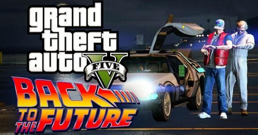Rinden homenaje en GTA V a la llegada de Marty McFly al Futuro