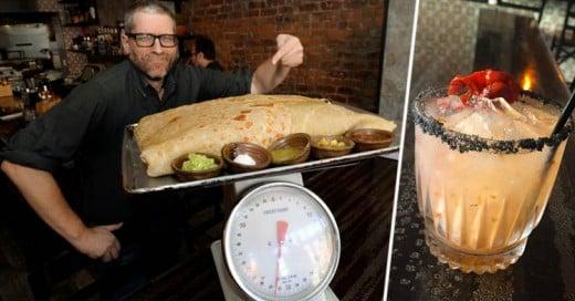 Si te acabas este Burrito ganarás el 10% de las Acciones del Restaurante