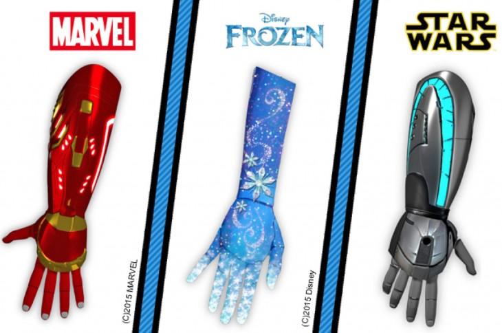 modelos de prótesis, iron man, star wars, frozen