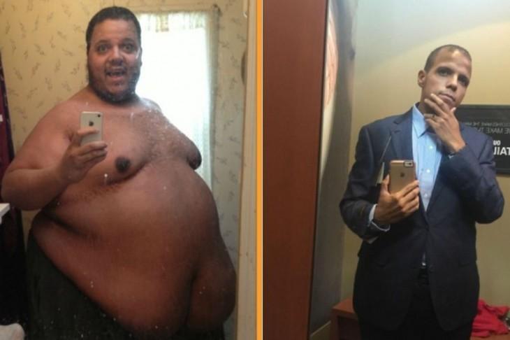comparación de Jesse Shand antes y después