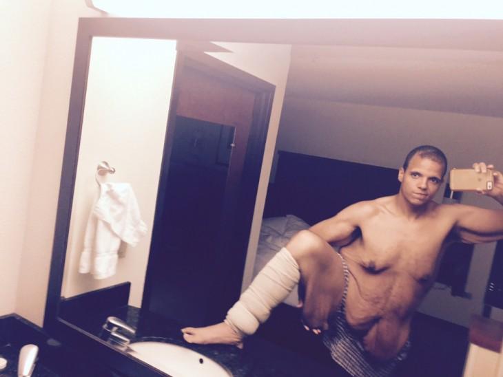 selfie de Jesse Shand mostrando sus resultados