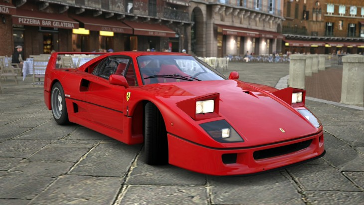 Ferrari F40 en plaza