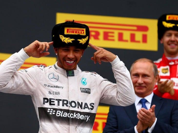Putin en la premiación de Hamilton