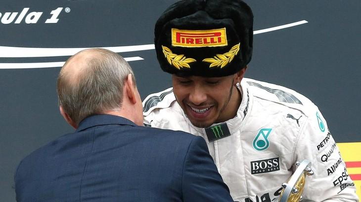 Lewis Hamilton y putin