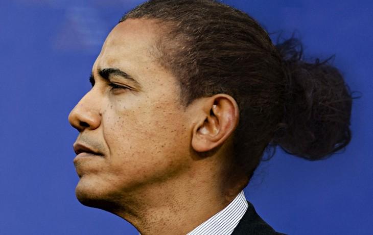 Barack Obama peinado hipster