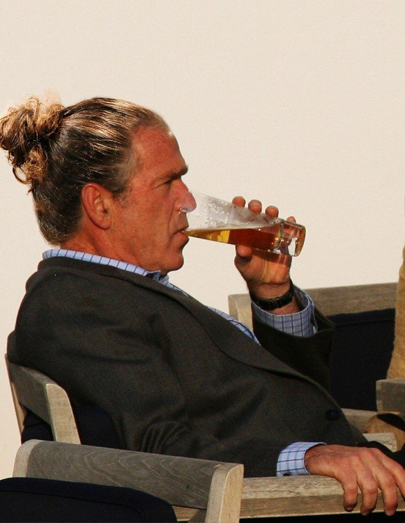 George Bush peinado hipster