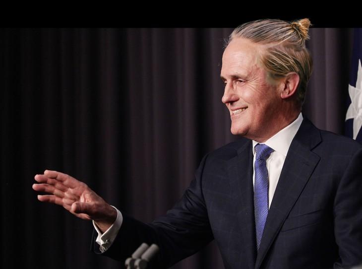 Malcolm Turnbull peinado hipster