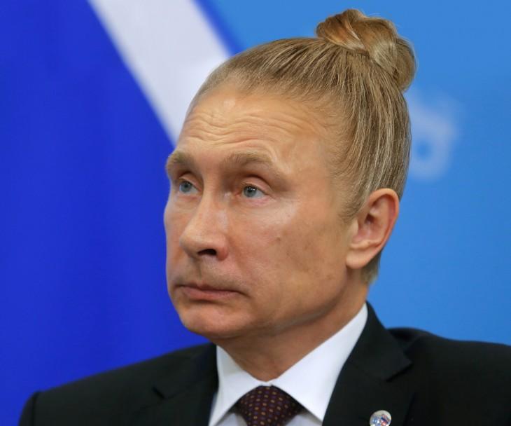 Vladimir Putin peinado hipster