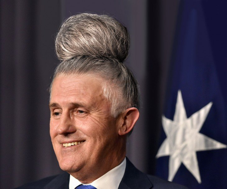 Malcolm Turnbull peinado hipster