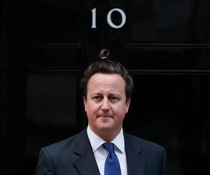 David Cameron peinado hipster