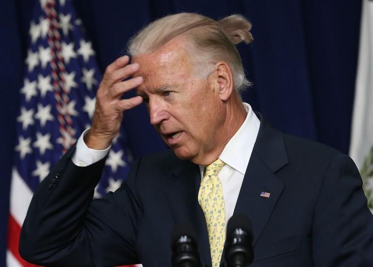 Joe Biden peinado hipster