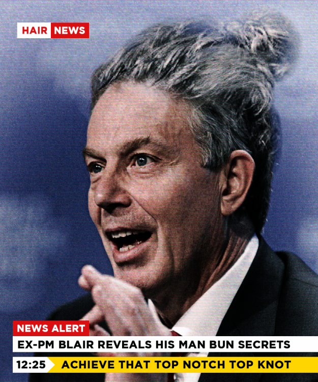 Tony Blair peinado hipster